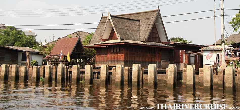 เช่าเรือ ด่วน เจ้าพระยา เรือบัส แม่น้ำเจ้าพระยา, ชมบ้านทรงไทย บรรยากาศเก่า ๆ เปรียเสมือน ย้อนยุค ปัจจุบัน ไปสุ่ ยุค อดีต