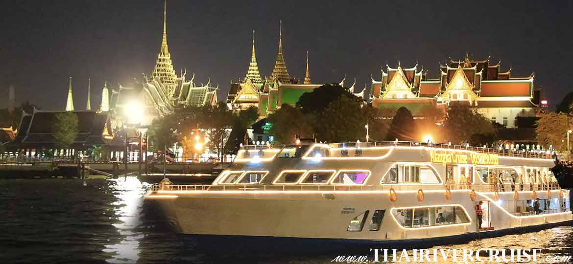 Alangka Cruise, Bangkok luxury elegance modern style, enjoy to International & seafood buffet dinner with soft drink dinner cruise