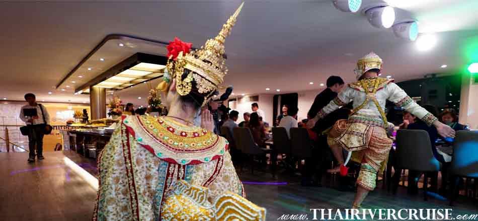 Thai Traditional Show on board  Alangka Cruise Luxury Bangkok Dinner Cruise Chaophraya River
