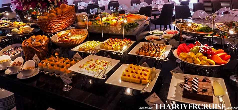 Desserts in buffet dinner on board Alangka Cruise Luxury Bangkok Dinner Cruise Chaophraya River