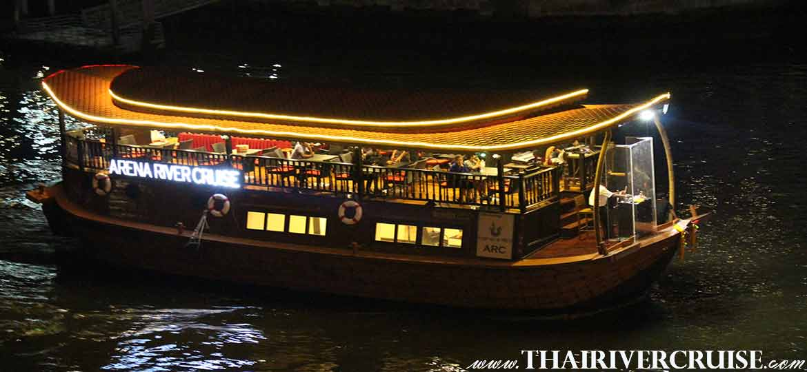 ARC Arena River Cruise Rice Barge Indian Dinner Cruise Bangkok Thailand.Rice Barge Dinner Cruise Bangkok River Cruise Chaophraya River