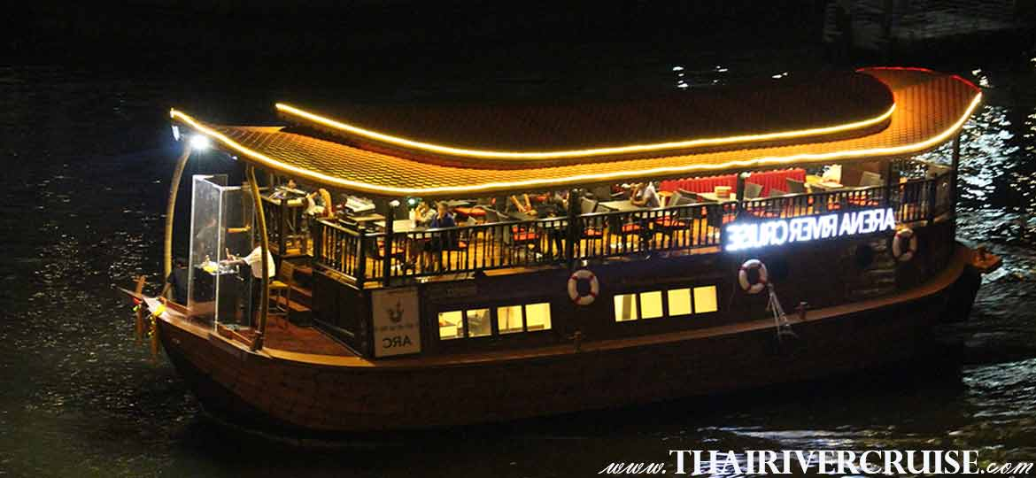 Arena River Cruise Indian Dinner Cruise Bangkok, Famous India dinner cruise on the Chaophraya river Bangkok