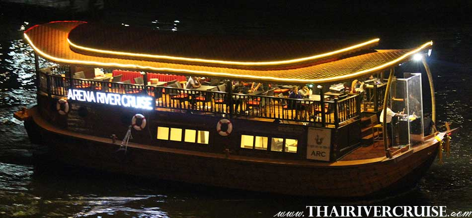 Welcome aboard Arena River Cruise Rice Barge Indian Dinner Cruise Bangkok Thailand