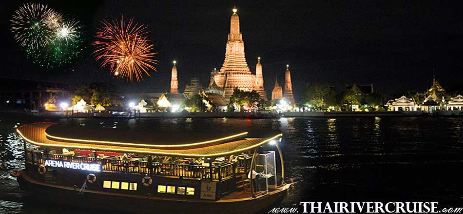 ARENA RIVER CRUISE ARC INDIAN RIVER CRUISE luxury rice barge Bangkok New Year's Eve Bangkok Dinner Cruise On Traditional Rice Barge Cruises Thailand