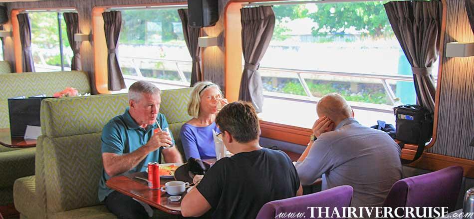 เรือสำราญ เจ้าพระยา แกรนด์เพิร์ล ครูซ พร้อม บุฟเฟ่ต์ อาหารกลางวัน นานาชาติ ล่องเรือ ทัวร์อยุธยา