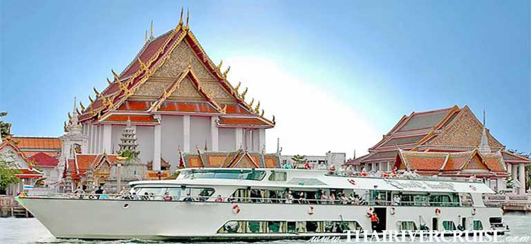 Wanfah Cruise  Traditional luxury rice barge dinner cruise with with entertainment by Thai traditional show