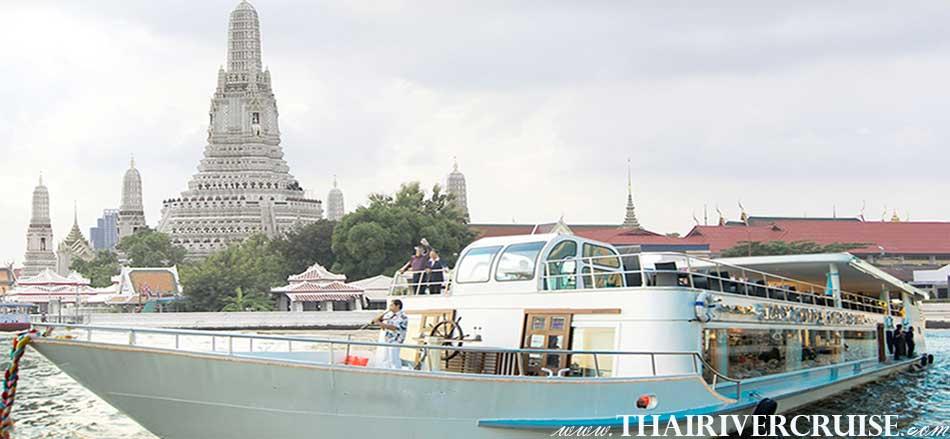 ท่องเที่ยว อยุธยา เดินทางโดยรถ กลับ โดย เรือสำราญ พร้อมอาหารกลางวัน บุฟเฟ่ท์นานาชาติ ชา กาแฟ บนเรือ ไวท์ ออร์คิด ริเวอร์ครูส์