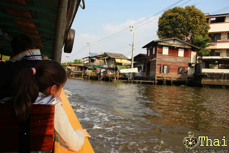 To the right and the the left, Myriad of Local Sights, A living fantasy, A world unto its own. Bangkok Canal Tour.