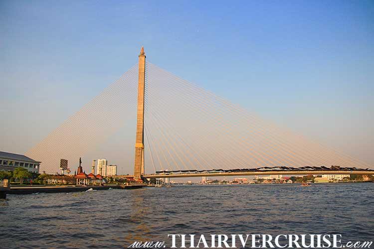 Rama 8 Bridge,Bangkok Sightseeing Tour with River Cruise Trip