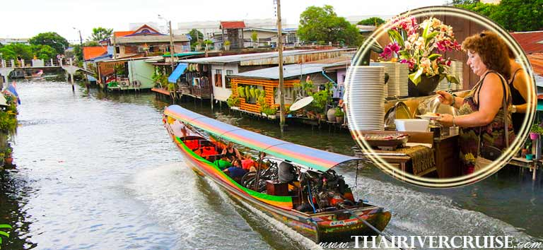 Bangkok Canal Tour with lunch by Longtails boat, cruising along the Chaophraya river and canals