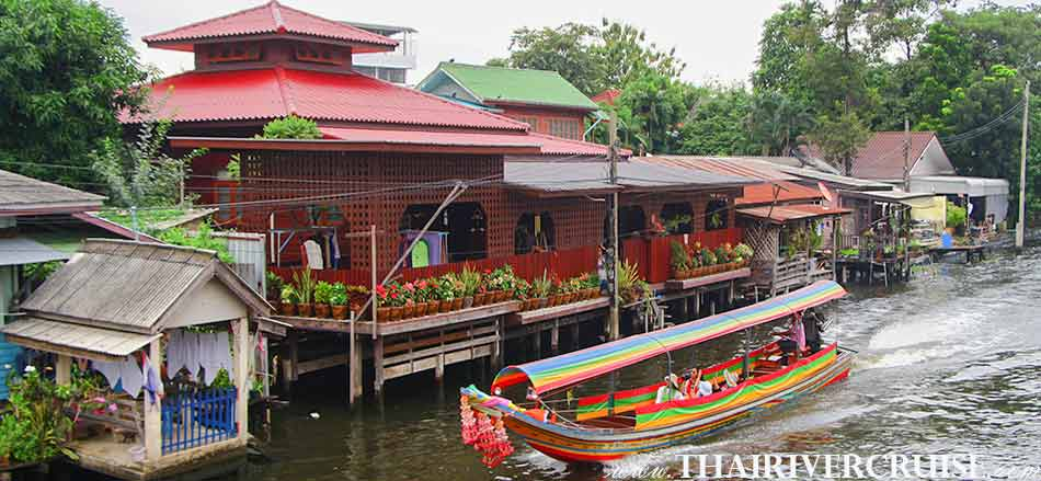Private Longtails Boat Safe Travel Trip During Covid-19 Longtail Boat Bangkok Klong Tour Thonburi Canal Trip along Chaophraya River Bangkok Thailand