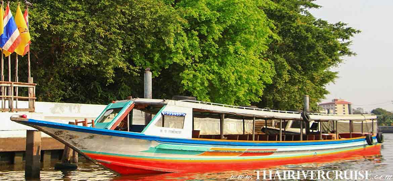 Bus Boat Canal Tour Cruising along Chaophraya River Bangkok Thailand