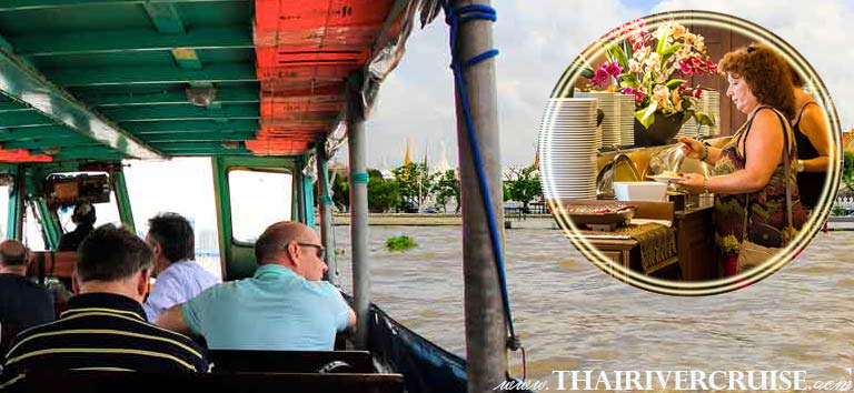 Bangkok Canal Tour by Chao Phraya Bus Boatwith Buffet lunch at River Side Restaurant
