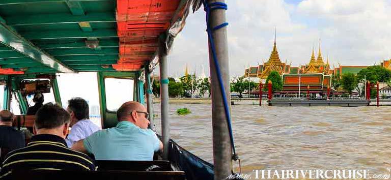Bangkok Canal Tour by Chao Phraya Bus Boat, cruising along the River of King