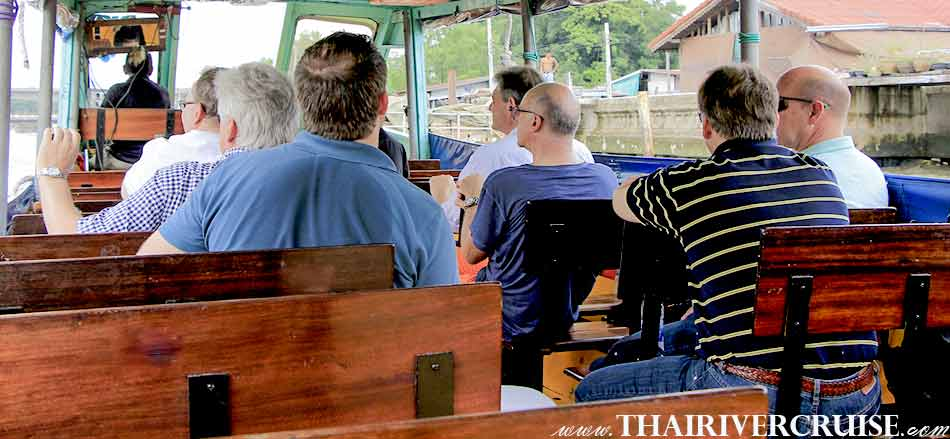 Tourist visitor on the Chao phraya river boat tour Bangkok with lunch