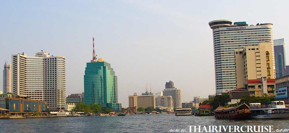 Icon Siam & 5 Star Hotels along Chao Phraya River Bangkok(โรงแรมหรูระดับ 5 ดาว ริมน้ำเจ้าพระยา ) The beautifulscenery and attraction along the Chaophraya river Bangkok, Chao phraya river boat tour Bangkok with lunch