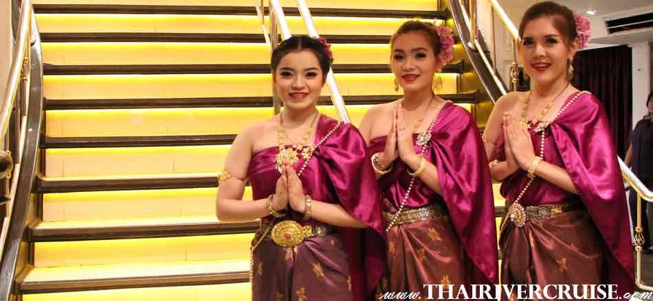Welcome aboard Chaoprhaya Cruise & Grand Chaophraya Cruise on Loi Kratong Night Bangkok by Thai Charming Girl, Loi Krathong Festival Bangkok Chaophraya Cruise