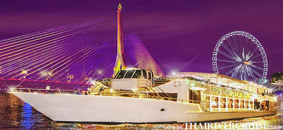 Welcome aboard Chao Phraya Cuise & Grand Chaophraya Cruise, luxury 5-stars river dinner cruise Chaophraya river Bangkok Thailand