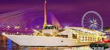 Chaophraya Cruise Loy Krathong Dinner River Cruise Bangkok Thailand