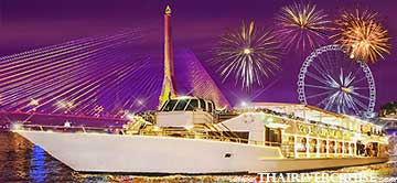 Chaophraya Cruise New Year Dinner River Cruise Bangkok Thailand