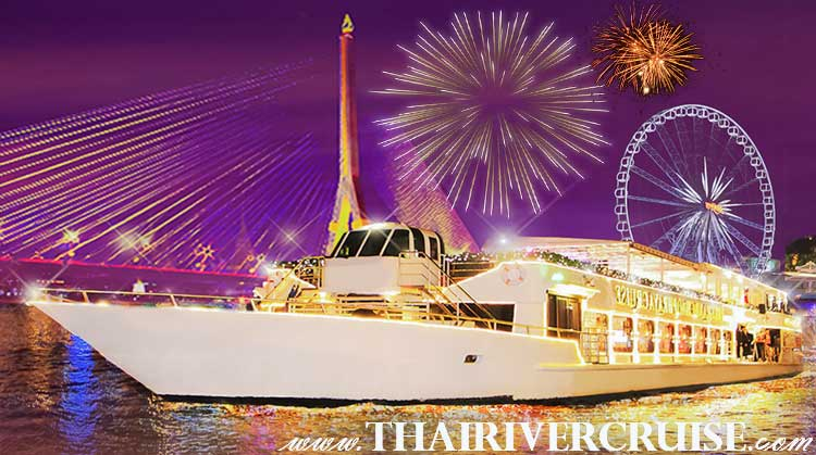 Bangkok new years eve cruise by Chaophraya Cruise Luxury Cruise Chaophraya River Bangkok Thailand