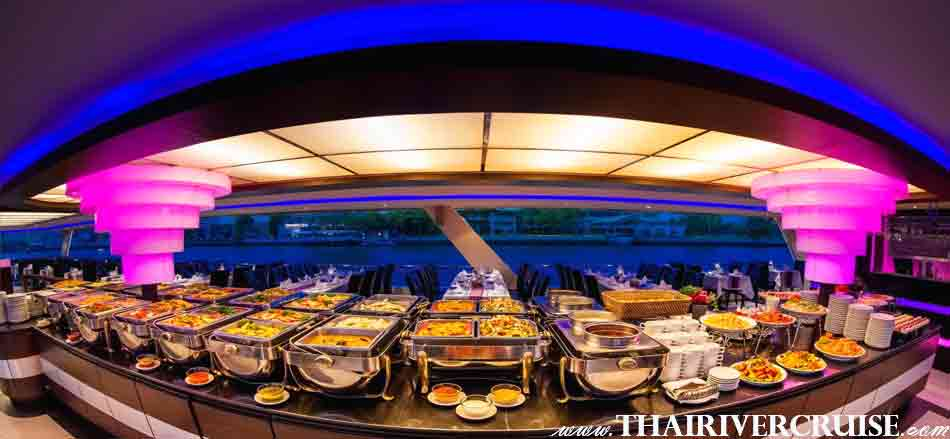 Luxury Dinner Candle Light Dinner Cruise on board  Chao Phraya Princess Cruise Dinner River Cruise Bangkok,Thailand