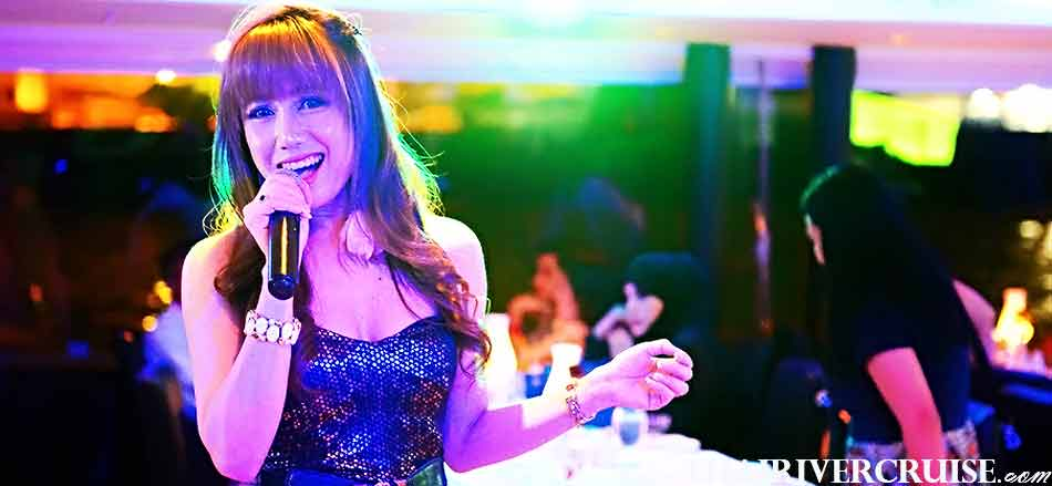 Beautiful Singer Entertainment on board Chaophraya Princess Cruise by live music pop jazz music style. Celebrate New Year in Bangkok Thailand  New Year's Eve Dinner Chaophraya Princess Cruise, Celebrate New Year in Bangkok Thailand  New Year's Eve Dinner Chaophraya Princess Cruise,Celebrate New Year Bangkok Chaophraya Princess Cruise