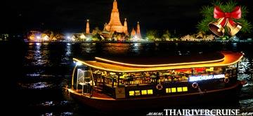 Christmas Eve Dinner Bangkok by ARC Arena Indian River Cruise on Chaophraya River Bangkok Thailandby Wanfah Cruise Thailand