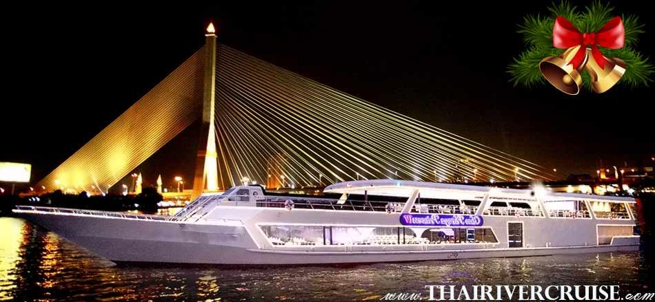 Christmas EVE Chaophraya Princess Cruise Chaophraya riverdinner cruise alongChaophraya river Bangkok Thailand