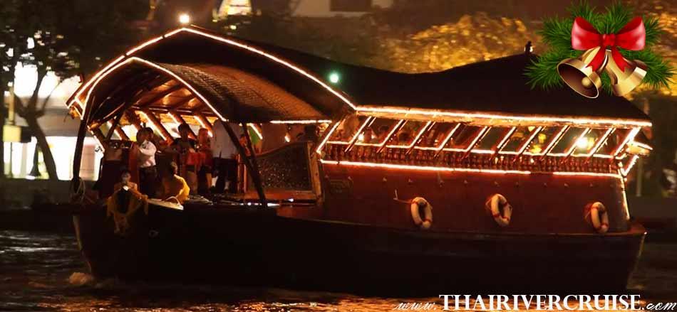 Celebrate Christmas in Bangkok Thailand Manohra Cruise Dinner