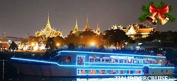 Christmas Eve Dinner Bangkok by Royal Princess Cruise on Chaophraya River Bangkok Thailandby River Star Princess Cruise