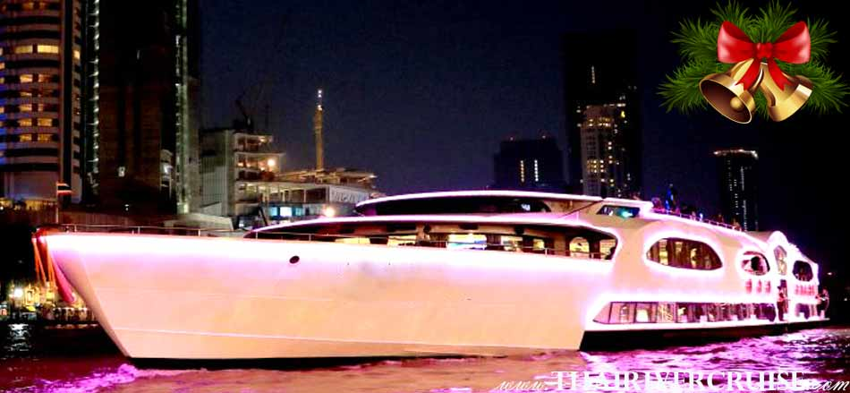 Celebrate Christmas Eve on the Chao Phraya River with Grand Pearl 's Luxurious Cruise Wonderful Pearl Cruise