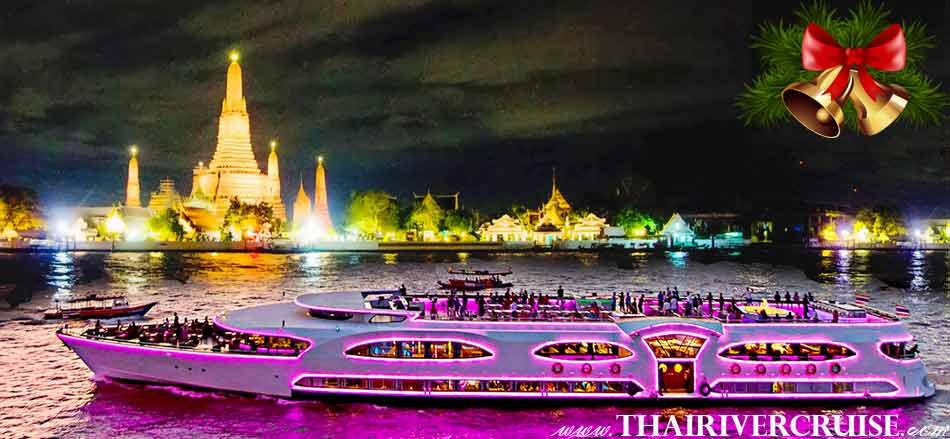 Celebrate Christmas Eve on the Chao Phraya River Christmas Buffet Dinner Bangkok Wonderful Pearl Cruise Thailand