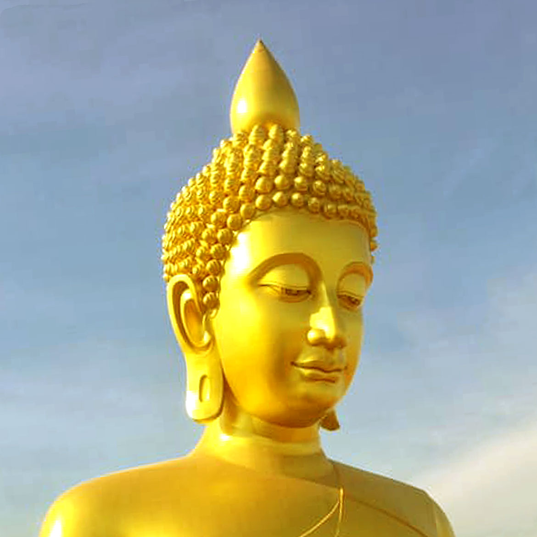 Largest Buddha Statue in Bangkok Thailand Dhammakaya Thep Mongkol Buddha