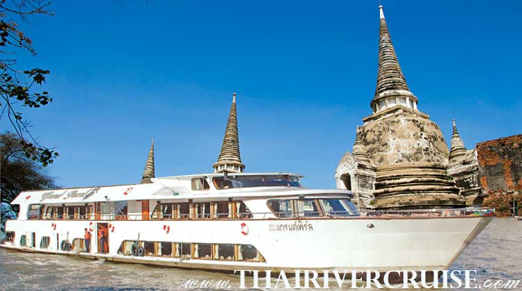 Ayutthaya River Cruise by Grand Pearl Cruise Bangkok Thailand