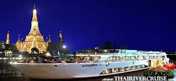 Loy Krathong River Cruise Bangkok Fireworks Grand Pearl Cruise Thailand