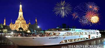 New Year's Eve Bangkok Chaophraya River Dinner Cruise by  Grand Pearl Cruise in Bangkok,Thailand