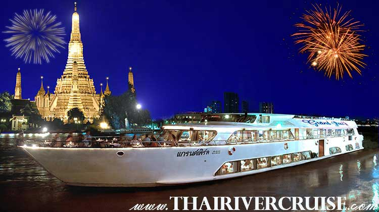 Best Cruise Restaurants in Bangkok for new years eve Thailand by Grand Pearl Cruise