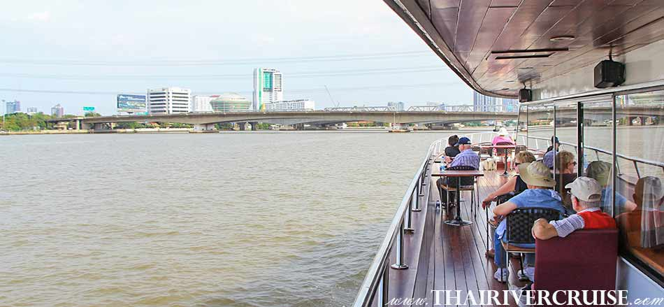 See the beautiful of town from outside city to Bangkok ,Grand Pearl Cruise Ayutthaya
