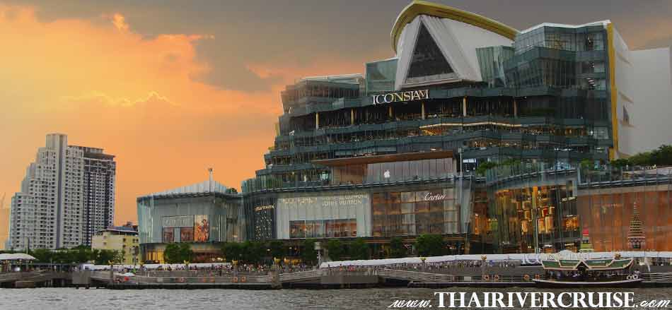 IconSiam Bangkok Sunset View of Chao Phraya river,Thailand