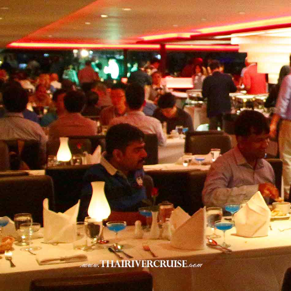 Indian Dinner Cruise Bangkok by Chao phraya princess cruise with Indian dinner buffet and vegetarian food