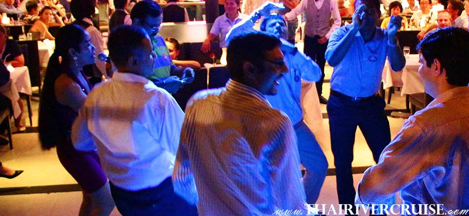 Entertainment onboard Indian Dinner Cruise by live music pop and dance ,indian song music