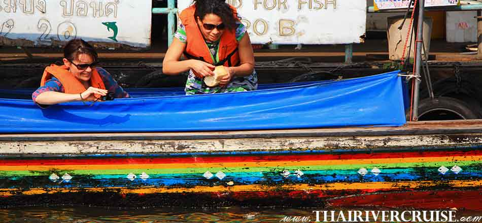 Longtail Boat Bangkok Klong Tour Thonburi Canal Trip alongChaophraya River Bangkok Thailand