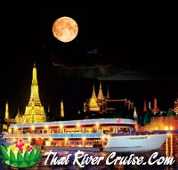 White Orchid River Cruise Loykratong Dinner Cruise Bangkok Thailand