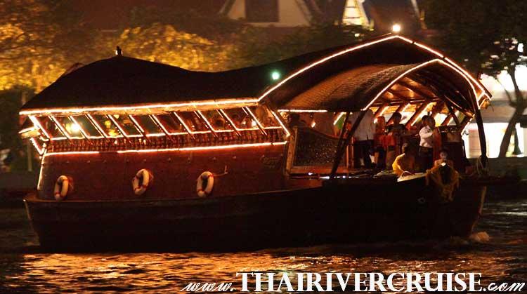 Daily Luxury Rice Barge Cruise 5 Star with Halal Muslim Dinner Set Menu in Bangkok Thailand Loynava Cruise