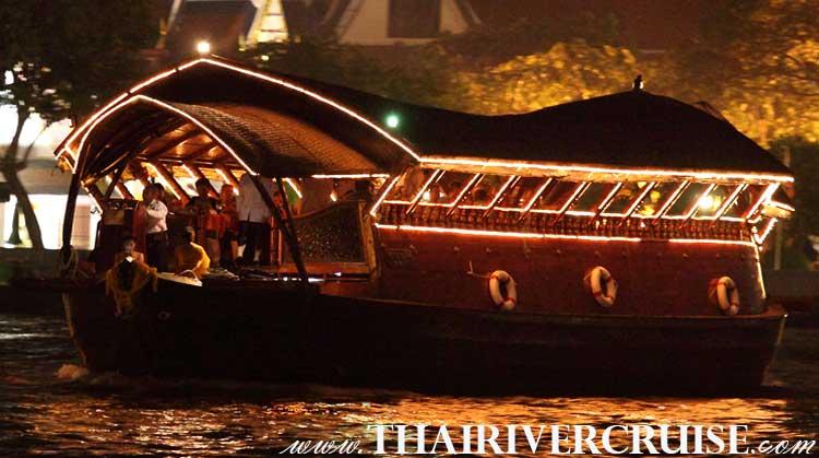 ลอยนาวา สัมผัส ล่องเรือ เจ้าพระยา กับ เรือหรู คลาสิค ไทยๆ โรแมนติกใต้แสงเทียน เรือดินเนอร์ เรือลอยนาวา ดินเนอร์ แบบไทย Open Air รับลมโชย แม่น้ำเจ้าพระยาได้ลึกสุดใจ คละเคล้าแสงเทียนโรแมนติก.
