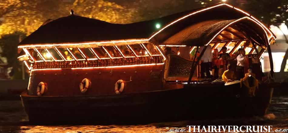 Welcome aboard Loy Nava Cruise luxury rice barge dinner cruise Bangkok Thailand