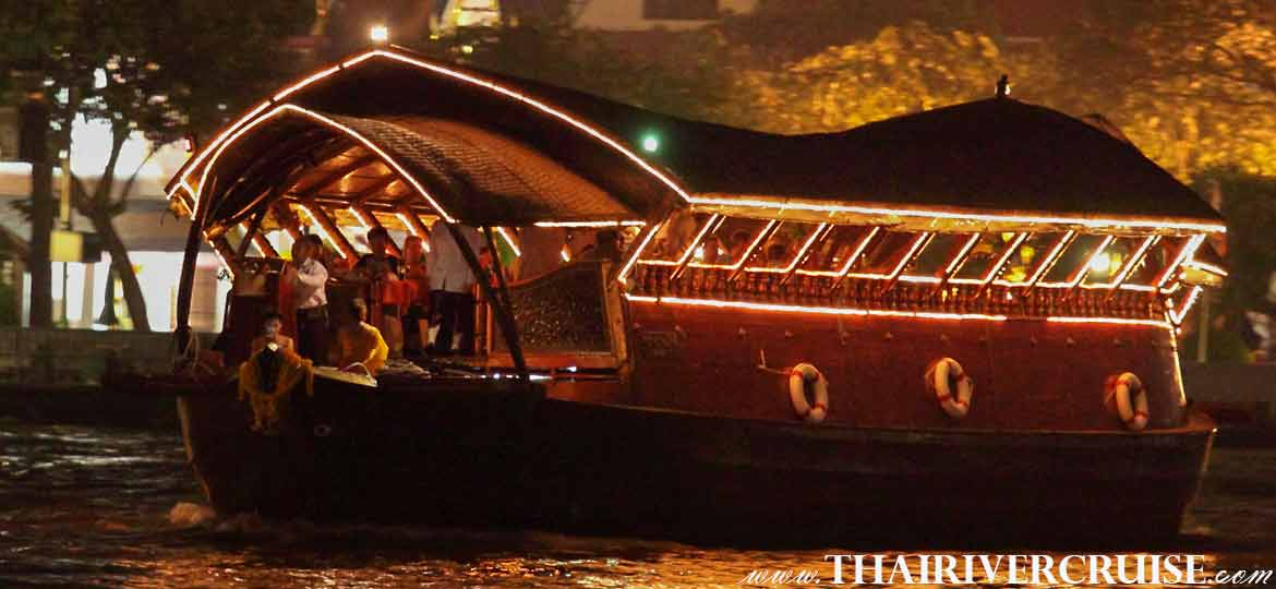 Loynava Cruise Luxury Rice Barge Dinner Cruise Bangkok Chaophraya River Thailand