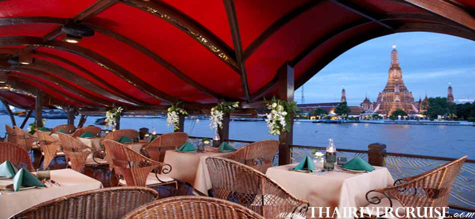 Manohra Cruise Luxury Rice Barge Dinner Cruise Bangkok Thailand