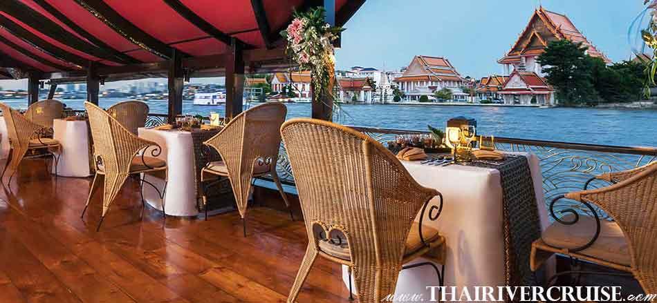 มโนราห์ ดินเนอร์ ครูซส์ ดินเนอร์ หรู โรแมนติก บน เรือทรงไทย แม่น้ำเจ้าพระยา